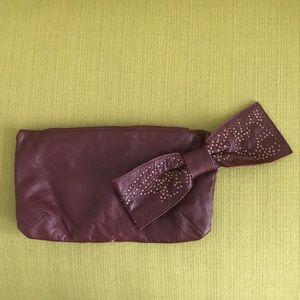 Handbags - Burgundy Leather Clutch